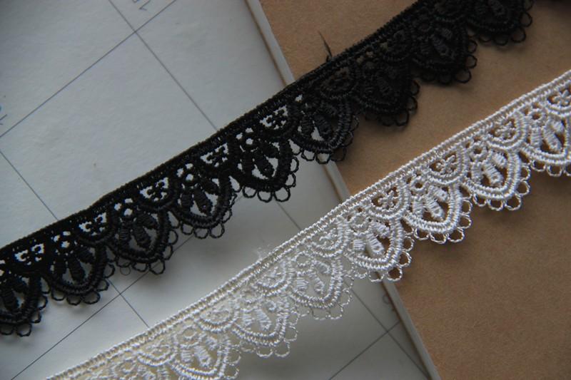 35x32 cm-Polyester-Noir Pointes Col utilisation bordure en dentelle