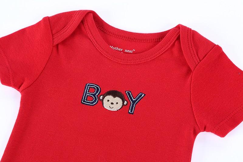 010447c732282 ... Roupas Infantil Retail One-Pieces Baby Bodysuit 0-12 M Red Cartoon  Animal Baby ...