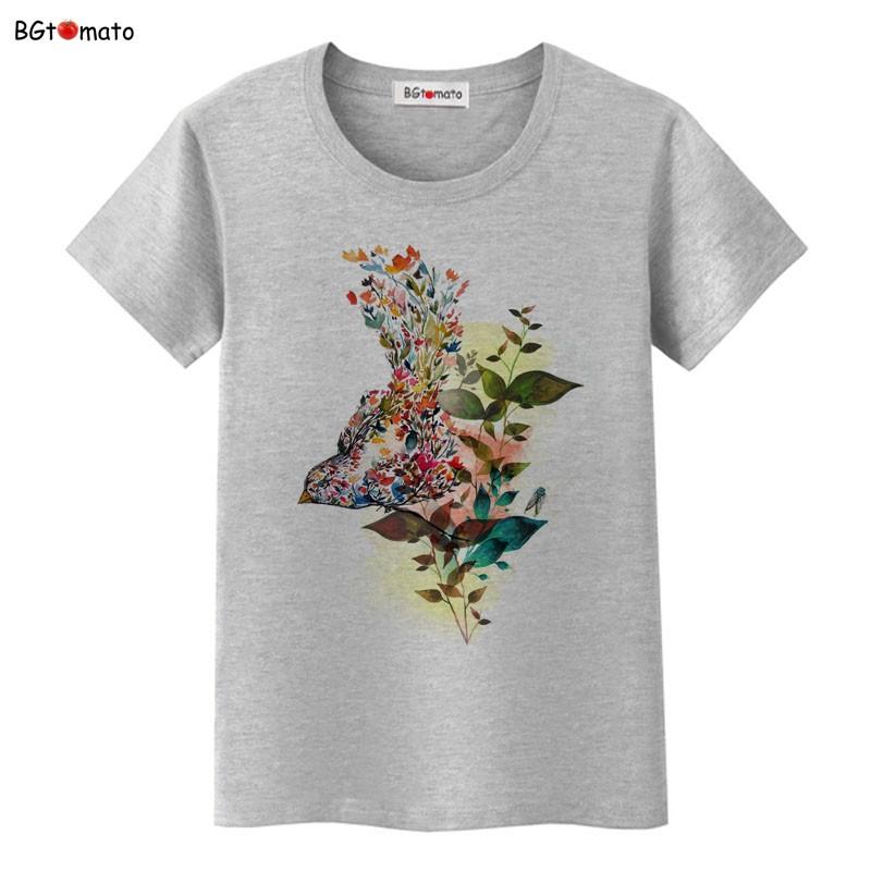 ᐊbgtomato Hermosas Flores Arte Creativo Camisetas Mujeres Amor