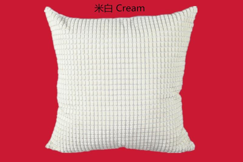 f34013ab6 ᑎ‰De Plaid suave almohada poliéster PANA Color sólido funda de ...