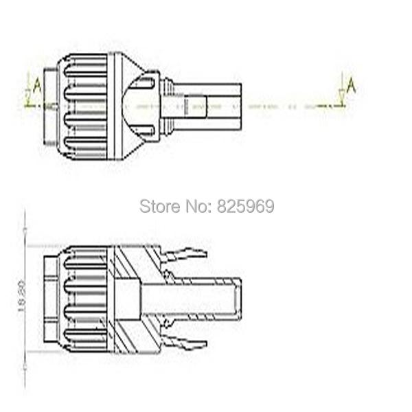 50PK Pack jaune 1//4 Connecteur Mâle Terminaux avec insert 6.3 mm 3 mm-câble 6 mm²