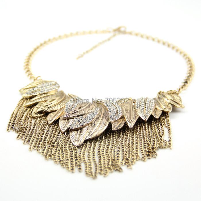 Femmes dentelle chaîne de fleurs gland collier sautoir gothique punk bijoux H5