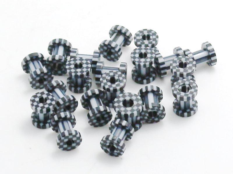 Túnel arete hexágono 2mm piercing Hexagon negro piercing oreja fleshtunnel