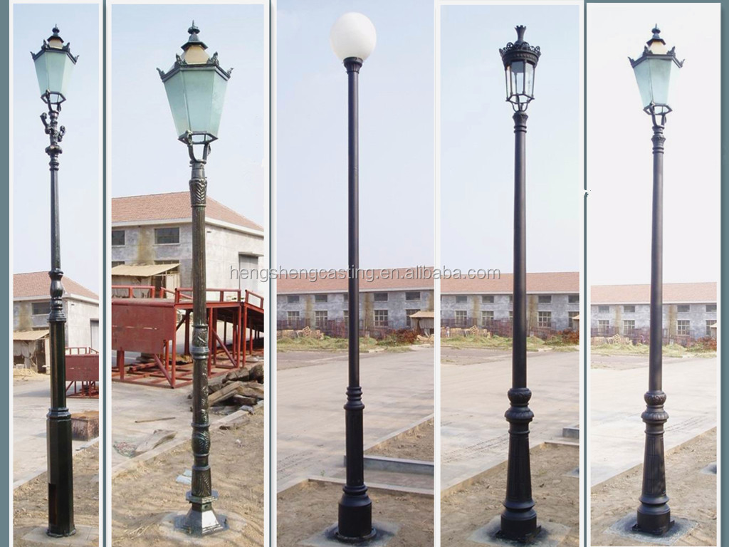 & Cast Iron Outdoor Light Pole