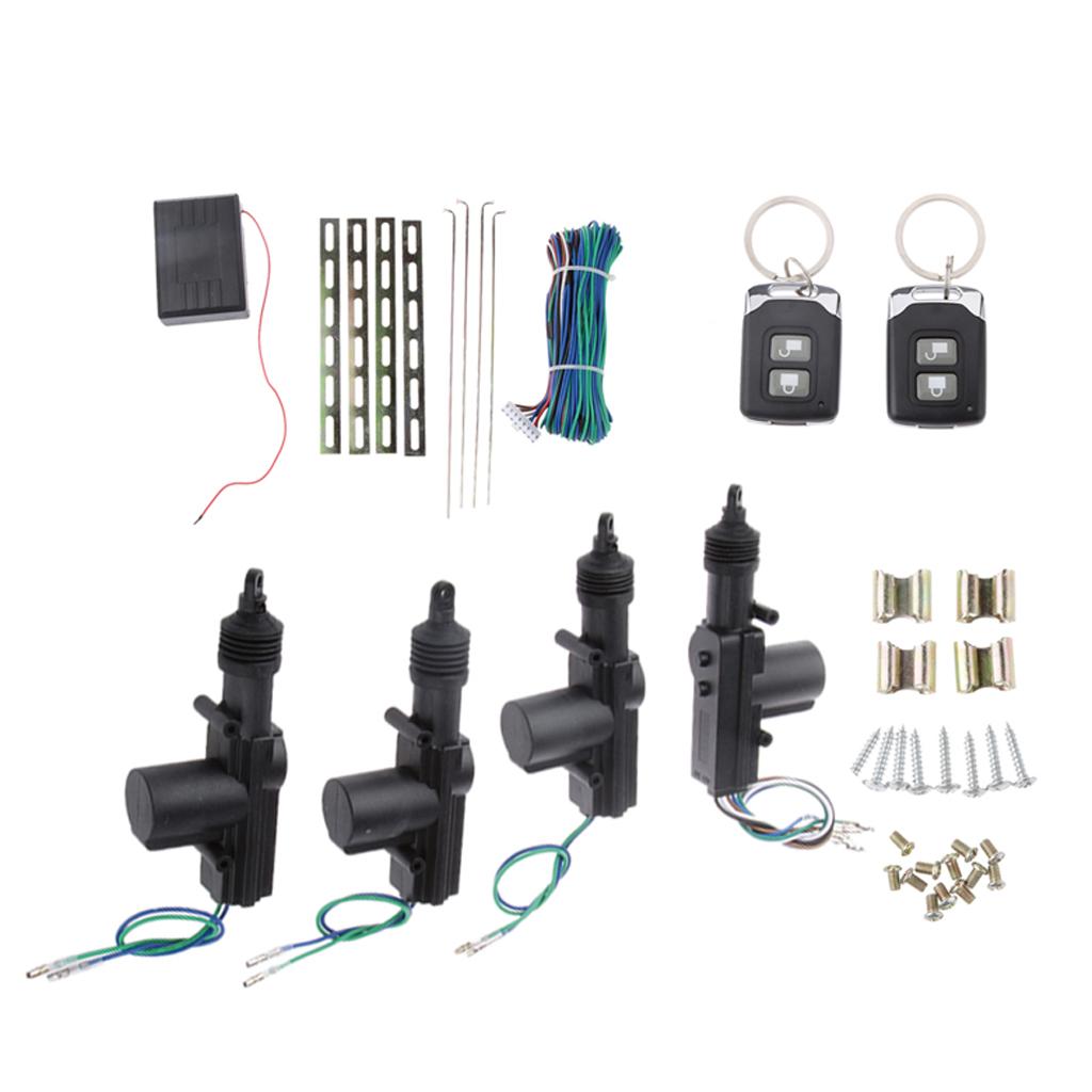 Car Universal Remote Control Central Door Locking Kit Keyless Entry System