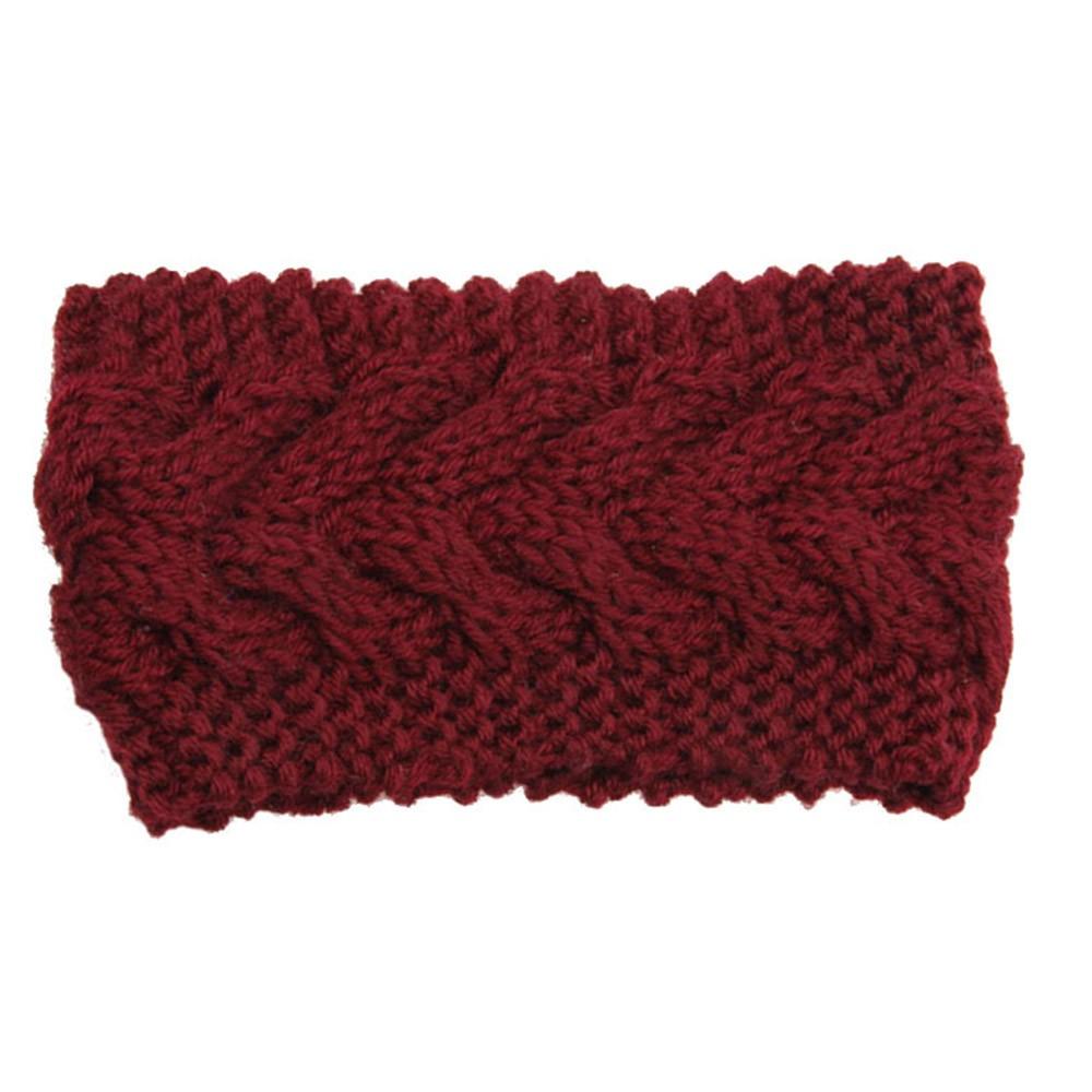 Ciruela de diadema de punto grueso diadema Earwarmer tejer diadema de lana  para las mujeres accesorios invierno Accesorios 633458ffae7
