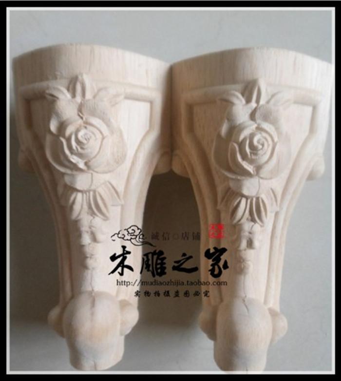 Set Bois sculpt/é Pieds de Meubles en Laiton Antique Pieds de bo/îte /à Bijoux Jambe Protecteur Coin Cas Outils de d/écoration de la Maison 4pcs