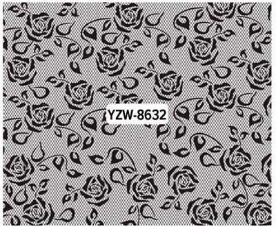 b6894d37f ᗚLCJ DIY uñas calcomanías de agua de la flor de encaje diseños ...