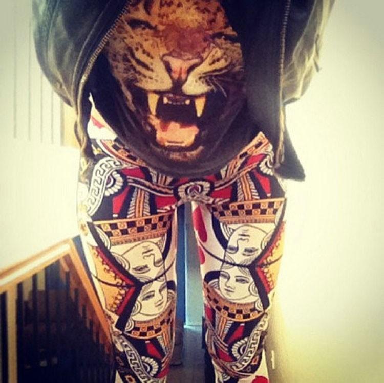 a913c6311 1532820652_2111221660. Click here!! Trening Pantalones Mujer Moda damska  Marki Drukowanie 3D Czarne Mleko Legging ...