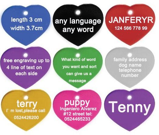 Disco de Etiqueta Grabado Mascota Perro Gato Mascota Personalizado 32mm y grabado gratis de Etiqueta de identificación Anillo
