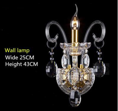 Novo ocasião especial Diamante Cristal Base Castiçal 43cm Médio