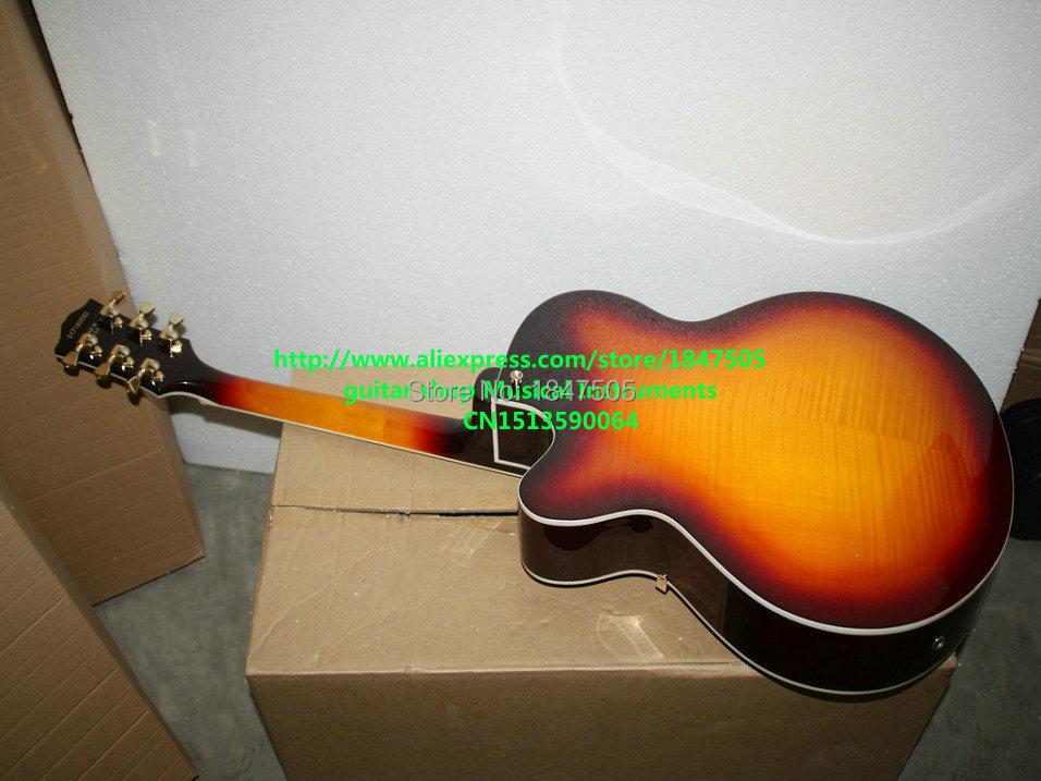 afdda09150f86 NºCustom shop sunburst vintage hollow jazz guitar jeden pickup high ...