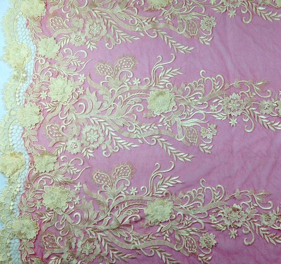 150cm Ancho Vestido tejido de mallas anudadas-Lila Free P /& P.