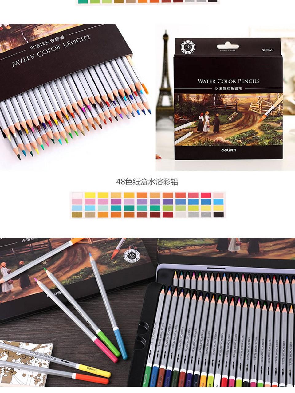 Watercolor pencils 72 DELI-5