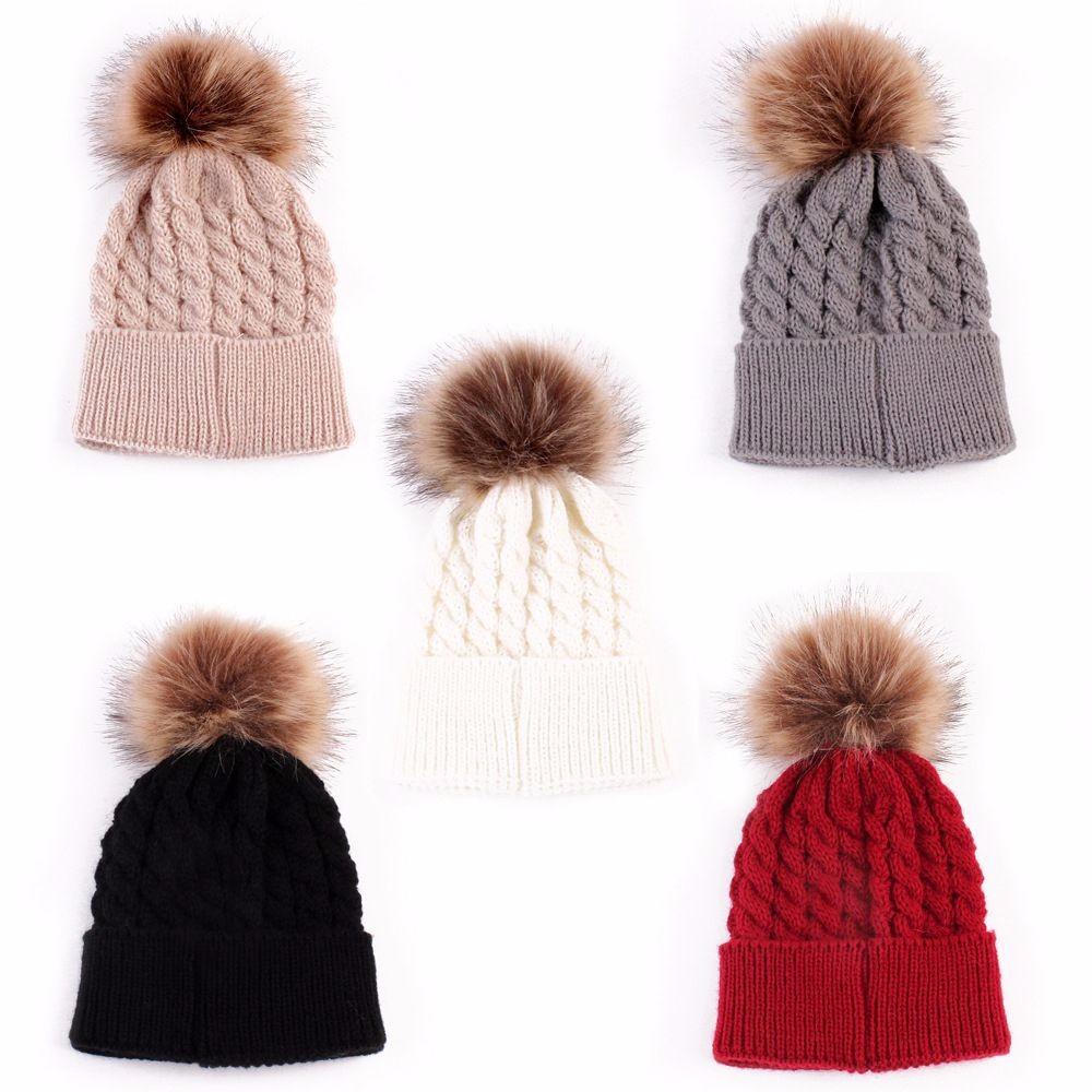 Mamum Enfants b/éb/é filles tricot chapeau bonnet turban t/ête Wrap Cap bouchon de pile Jaune Bonnet B/éb/é