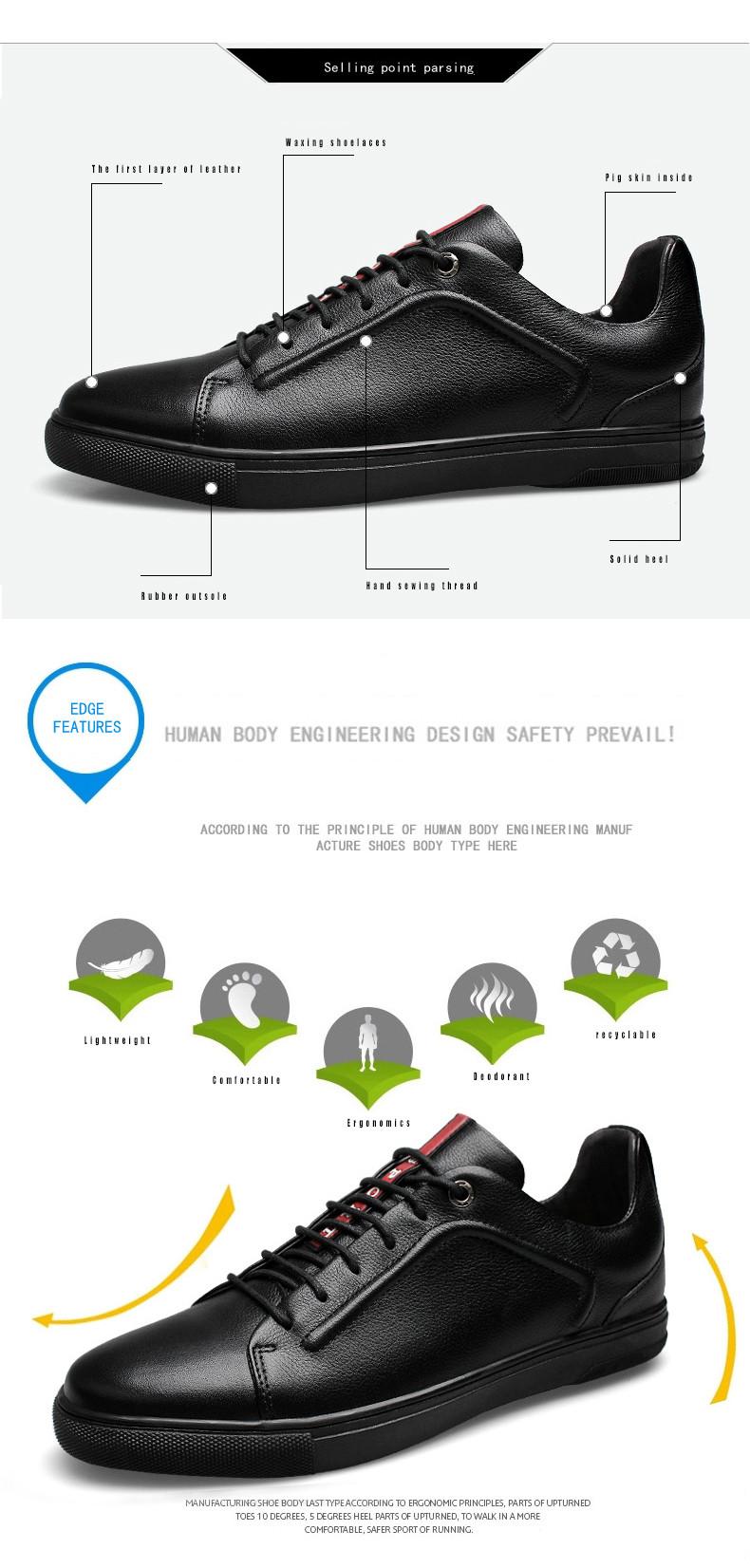 0da72dedf ᗜ Ljഃجلد طبيعي الرجال سببية الأحذية أعلى جودة الدانتيل متابعة ربيع ...