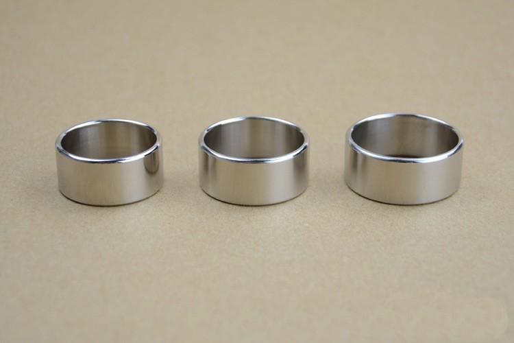1 dedos anulares anillo señora caballero plateados de acero inoxidable 17-22mm doble anillo brillante