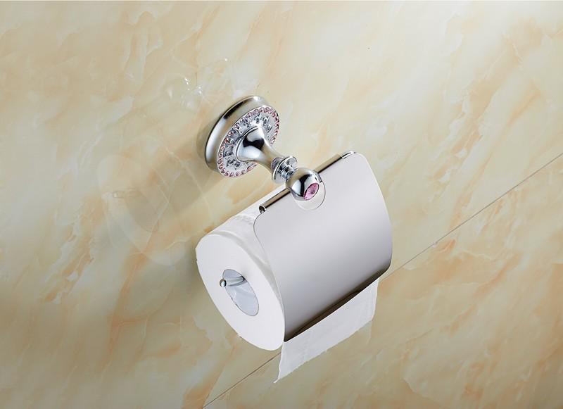 Nouvelle marque Plaqué Chrome Papier Toilette Rouleau Loo Titulaire mural avec raccord