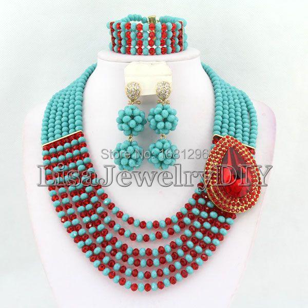 Collar De Cristal De Novia Boda am /_ Brazalete Anillo Semental Pendientes Joyería conjuntos Fashi