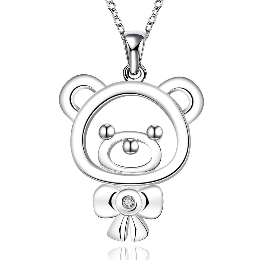 Mamá oso y Bebé Oso Madre Mamá Momia de los Cachorros Colgante Cadena Collar Joyería Nuevo