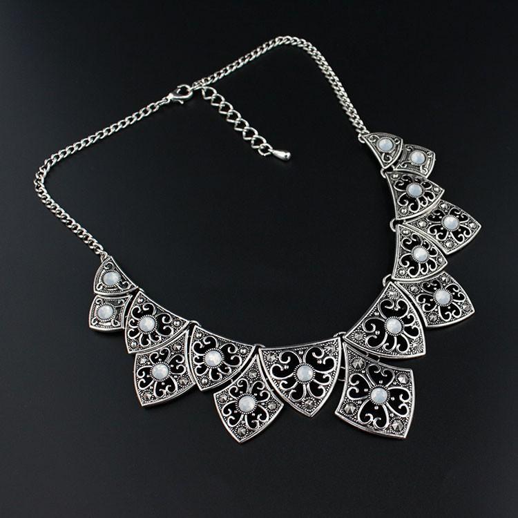 387214af90527 ⑥Jianxi العتيقة الفضة مصنع المجوهرات قلادة قلادة مربع سبيكة سحر ...