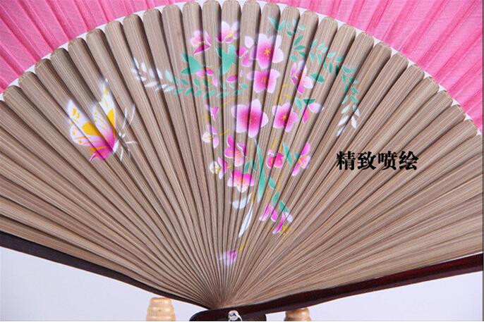 9a8b77ee55 Oszczędny Handmade Wentylator Exquisite Dopasowywania Kolorów Druk Fan  Chiński Styl Vintage Urocze pieczone Szkliwa Jet Rysunek Składane  Wentylatora