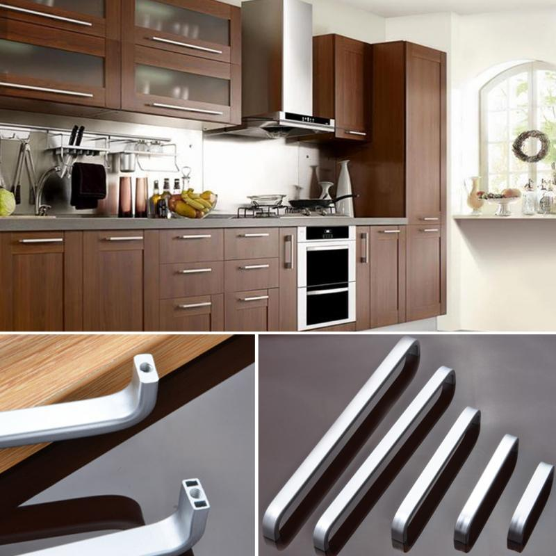 ①5 Lengths Solid/Hollow Space aluminum handle Kitchen ...