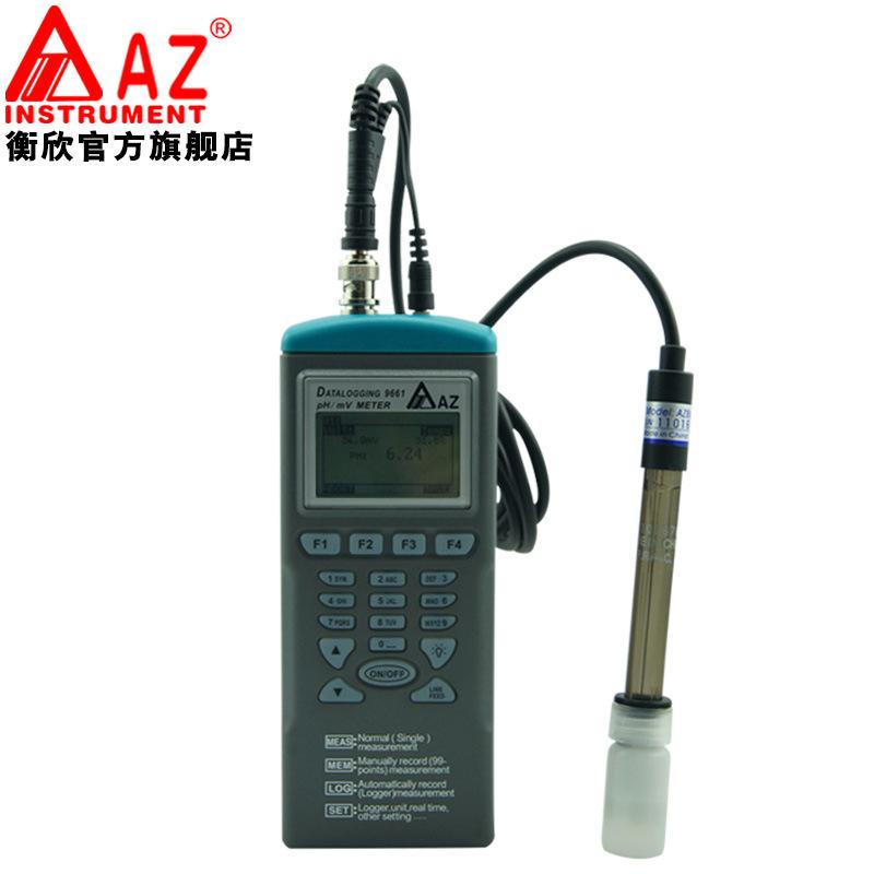 AZ-9661 Digital Handheld PHmV Data Logger with Programmer PH Meter Multiple Function Datalogger (2)
