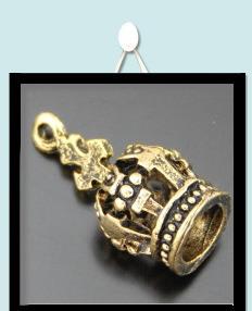 Deux-Tone Gold OM Ohm médaillon pendentif