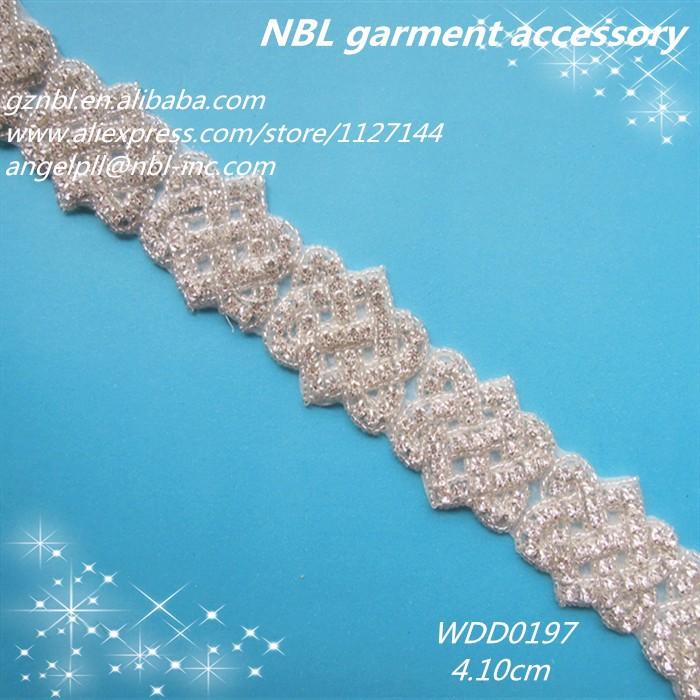 5 yardas unilateral Borla de encaje de corte diamante enrejado boda cinta de costura manualidades