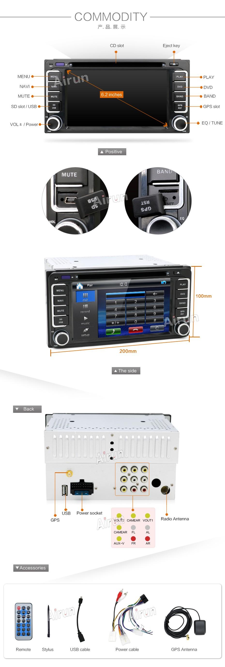 Doble 2 din radio diafragma autoradio Adaptador Conector Opel Corsa D Zafira B