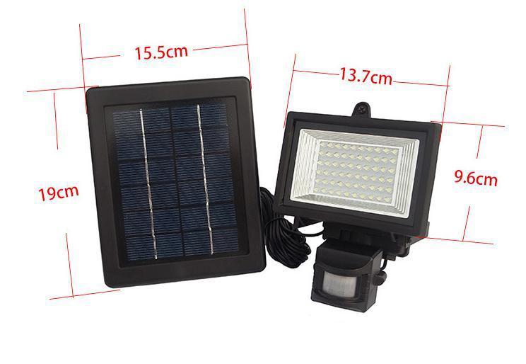 90f37d29b ⊹60 LED الشمسية مصباح مصابيح جدارية للأماكن الخارجية مصابيح إنارة ...