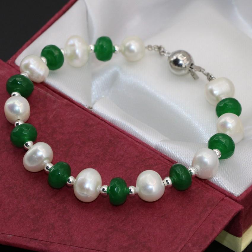 Silvertone Filigrana cono verde DE JADE Rondelle Cristal Cuenta Pendientes Perforados