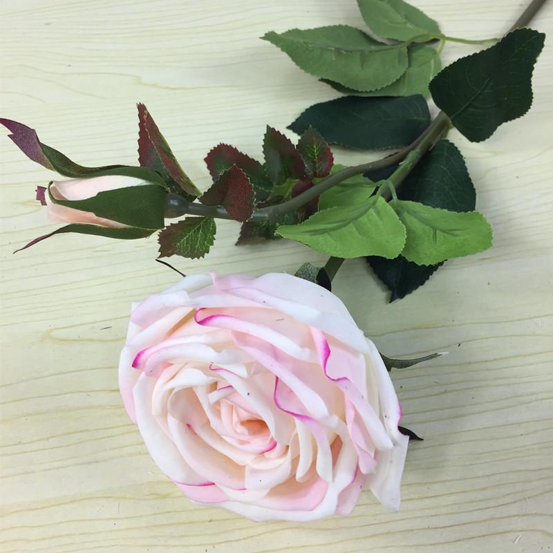 Soie Artificielle Fleurs Anemone Bush ORANGE ROUGE JAUNE 9 têtes 26 cm LG