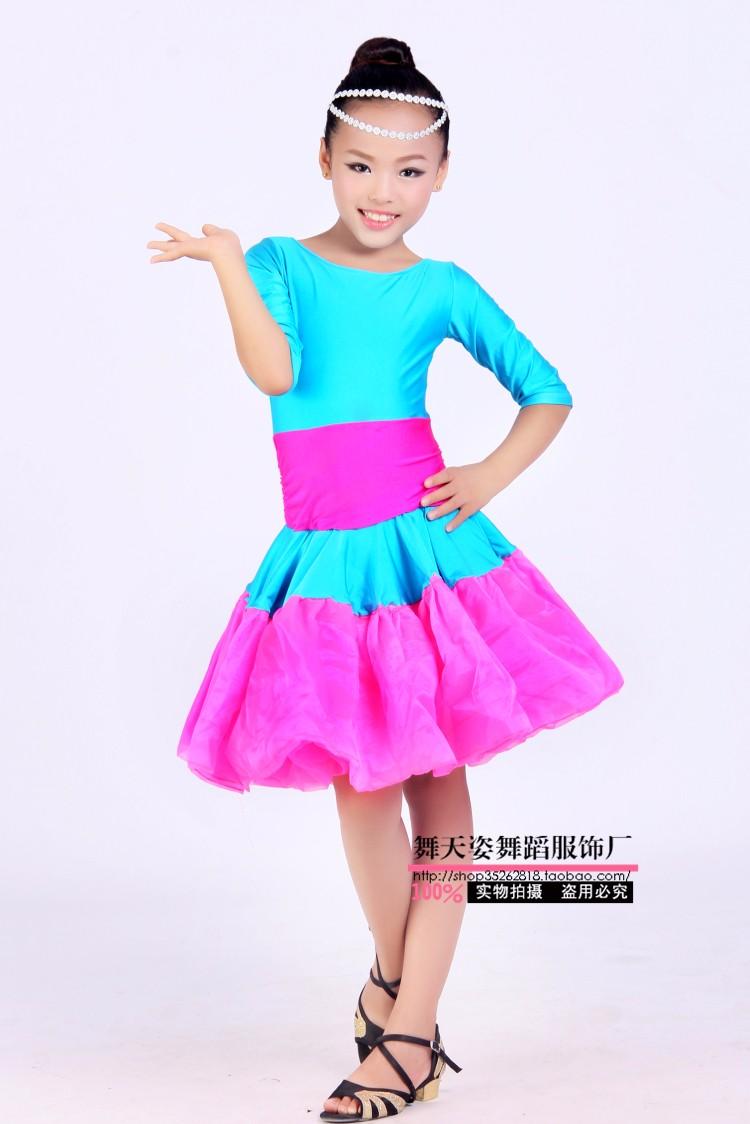 f6a2c890f3652 ᗛالكبار طفل اللاتينية الرقص زي مثير نصف الأكمام فساتين الأطفال ...