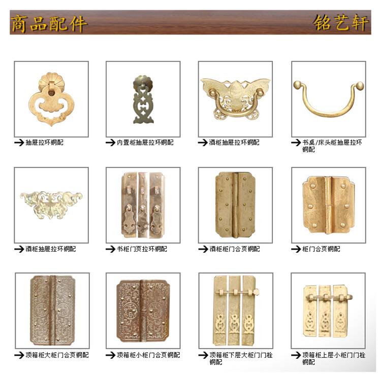 Style antique classique grand cabinet tiroir poignée Fonte Poignée Tasse pull CH5
