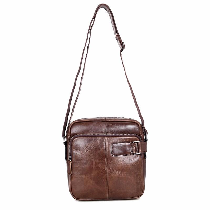9b1244cb90a57 100% prawdziwa rocznika temblak skórzany torby dla mężczyzn Messenger torba  na ramię torebka 6012C