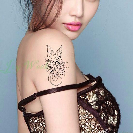 634d56897 ᐂللماء المؤقتة الوشم ملصق على الجسم اليد مثير فتاة الملاك تاتو ...