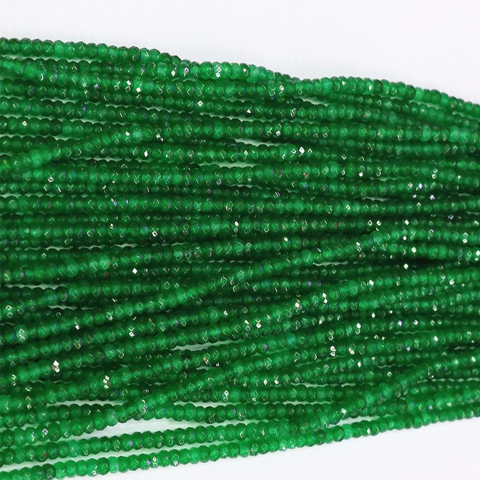 20 perles à Facettes Rondelles 6 x 4 mm en Cristal Vert clair