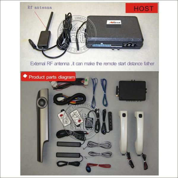0928bd3adbcac ヾ(^▽^)ノAraç oto anahtarsız giriş push start akıllı kolu kilidini ...