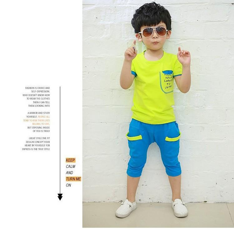 9359319698a8d الأطفال طفل الفتيان الملابس مجموعة القطن الترفيه تناسب الفتيات ملابس الطفل  و الاطفال مجموعة 2-7years مجموعات الأطفال الصيف قميص الأعلى بانت