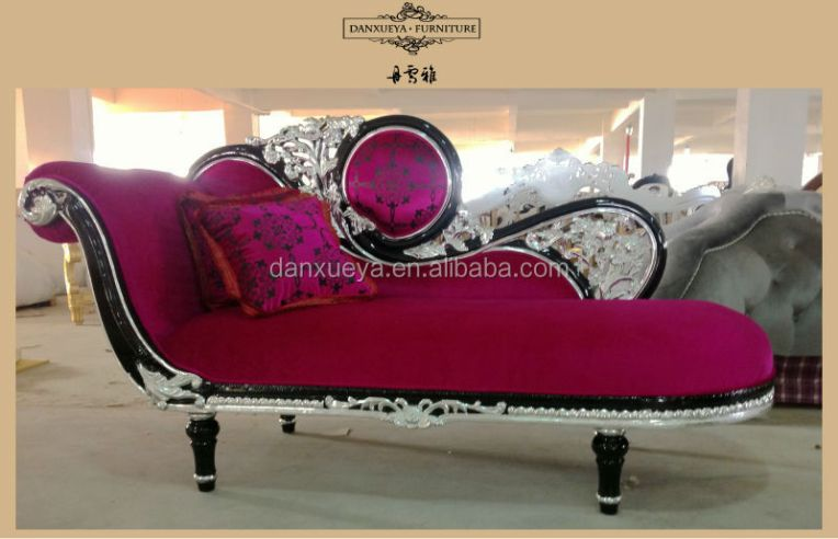 Elegant Princess Purple Chaise Lounge Neo Classic Rococo Furniture     IMG 6061