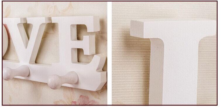 734994574 بيضاء بسيطة الحديثة جدار الجرف رفوف الرف الكورية نمط الحب موضوع خشبية جدار  شماعات معطف شماعات تخزين الرف المنزل