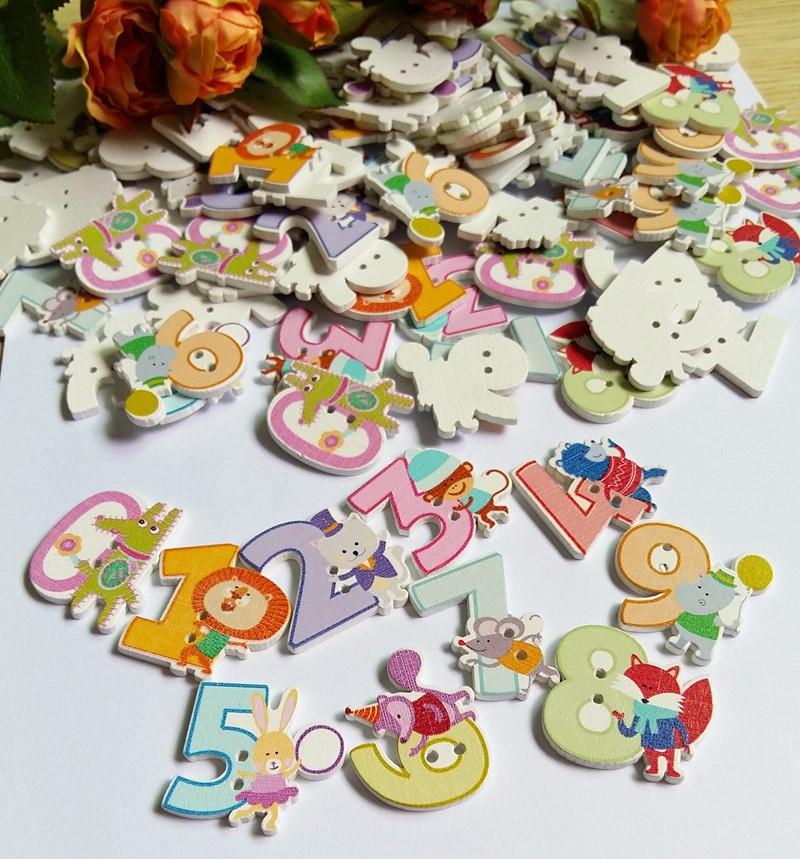 50//100 unids botones de madera ovaleshechos a mano en relieve de la etiqueta con 2 agujeros para coser y hacer artesan/ías de bricolaje coser decoraci/ón de ropa Mix Color 100pcs
