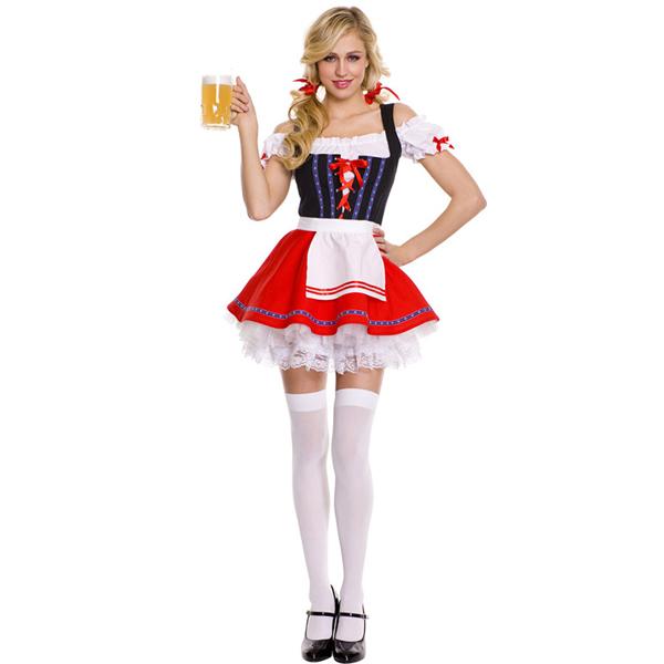 981b1ffc129cf ... Bowknot décoration bière femme de chambre fille halloween Costume  Fantasia oktoberfest bière festival tenue allemande sexy féminisesUS   23.34 Ensemble ...