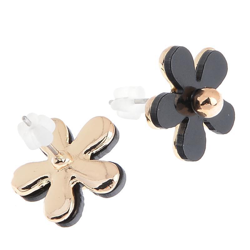 Mignon ajourée Nœud Noir Avec Perles Clous D/'Oreilles JOKER simple Boucles d/'oreilles
