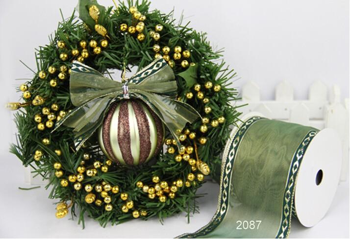 """5/"""" 10/"""" de clip en De Lujo Con Cable Árbol de Navidad arco brillante corona de Malla Dorada Regalo"""