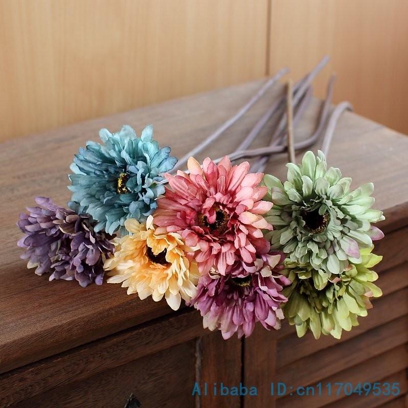 glycine fleur artificielle décoration mariage maison branche 110 cm  lot 6pcs