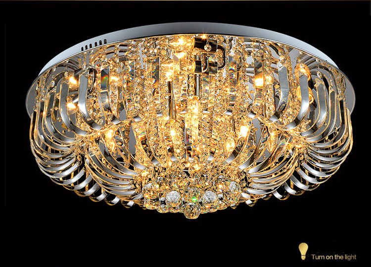 COB DEL 36 W plafonnier 9-brûleur verre éclairage salle à manger lampe Argent