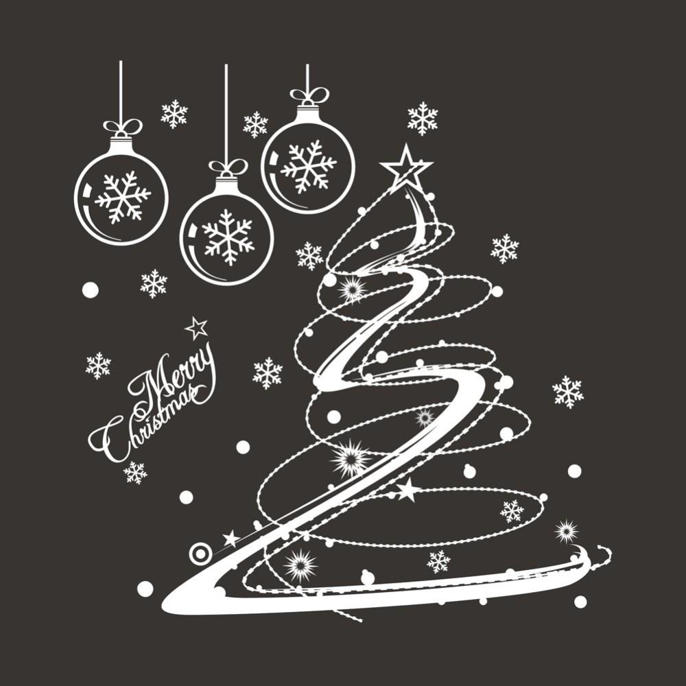 7c4f56523 Click here!! عيد الميلاد جدار زجاج النافذة صائق الزهور زينة عيد الميلاد  متجر المنزل الجدار ملصق سعيد السنة الجديدة Pinturas Murais D033